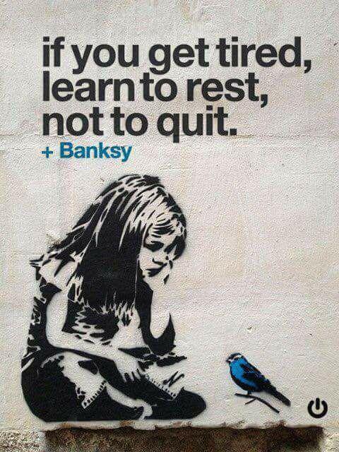 Well said Banksy!
